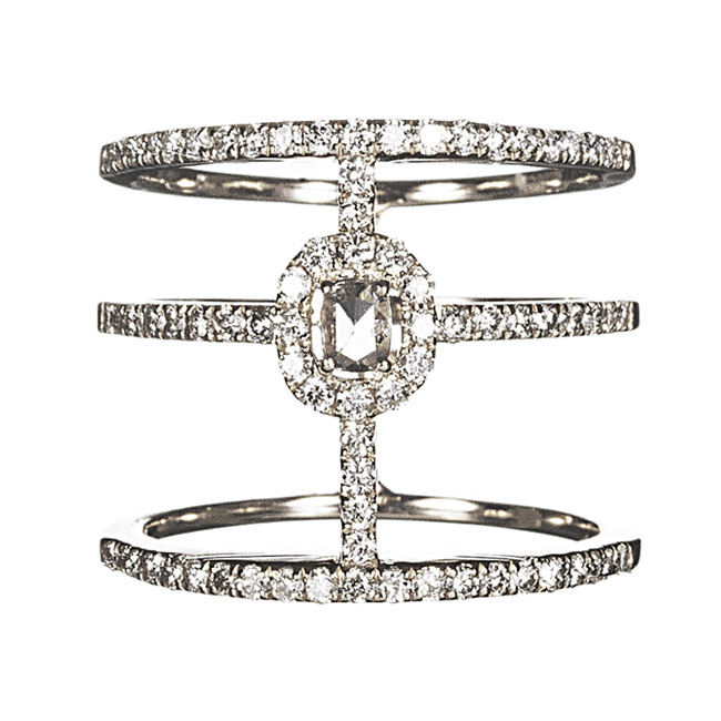 WHITE COUTURE BAND RING