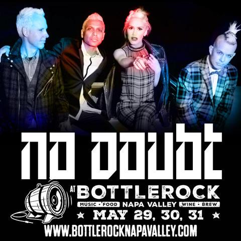 No Doubt выступят на BottleRock Napa Valley
