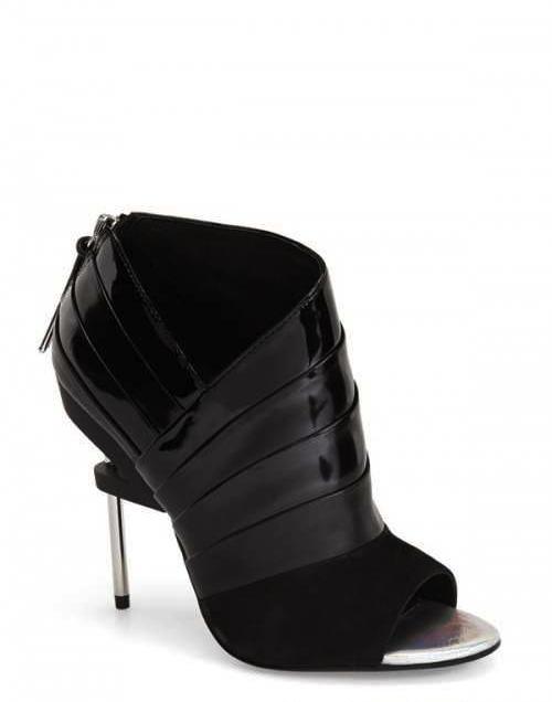 Lamb Women s a B Elastic Open Toe Sandal 4 3 4 Heels & Heels black patent - PG7577140